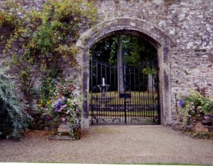 GATE - stone walled garden crop